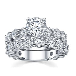 14k White Gold 4 2/5ct TDW Diamond Bridal Ring Set (G-H, SI1-SI2)