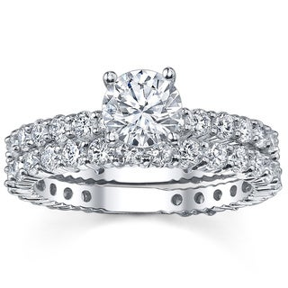 14k White Gold 2 1/3ct TDW Diamond Bridal Ring Set (G-H, SI1-SI2)