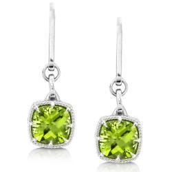 Annello Sterling Silver Peridot Dangle Earrings