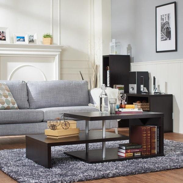 Furniture of America Modern Multi-leveled Coffee Table