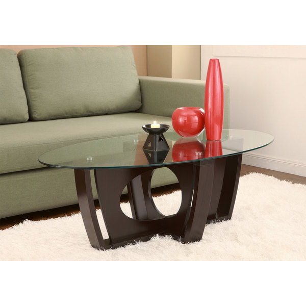 Furniture of America Ambrose Glass Coffee Table