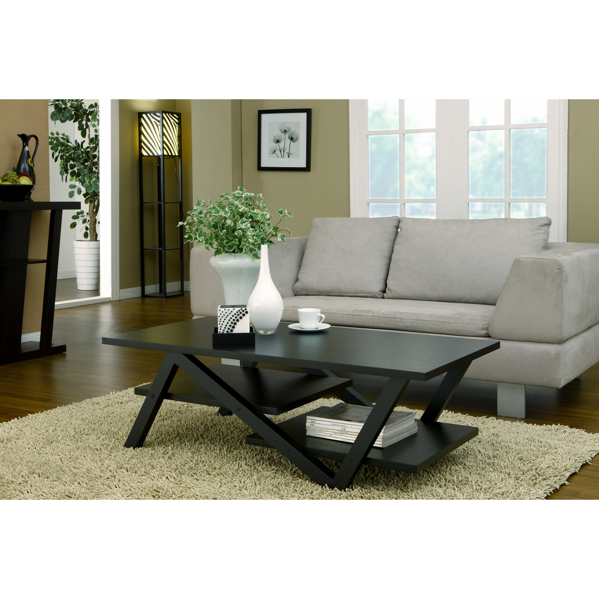 Furniture of america zoe modern rectangular coffee table