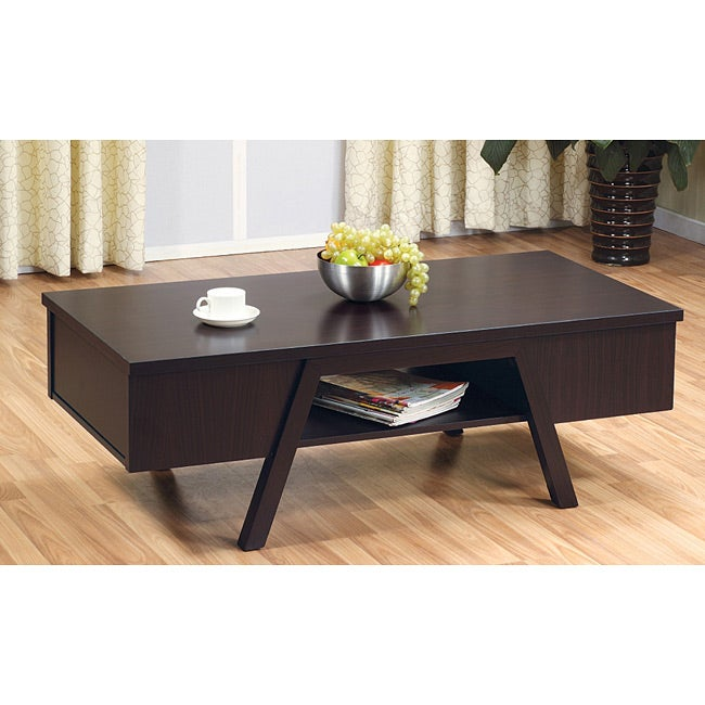 Coffee Table Furniture Of America Modern Rectangular Coffee Table
