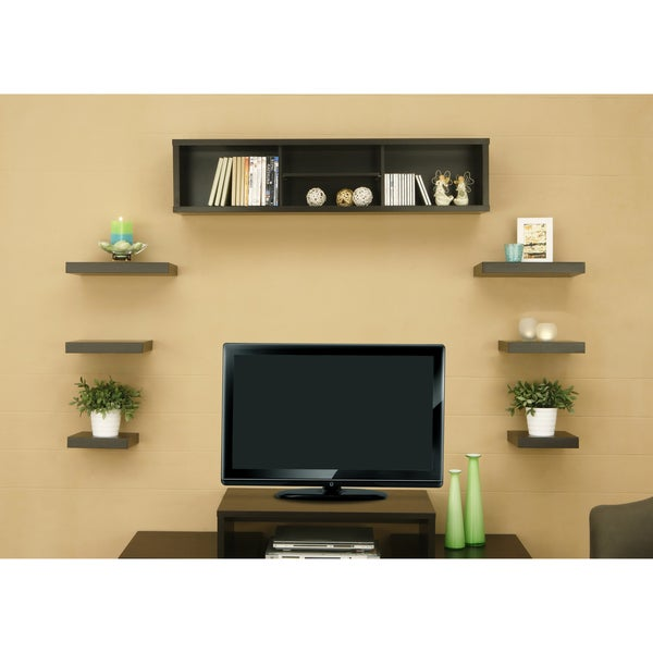 Furniture of America Ziesta Cabinet and Hanging Shelves