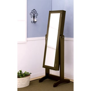 Furniture of America Lily Cheval Mirror with Jewelry Holder