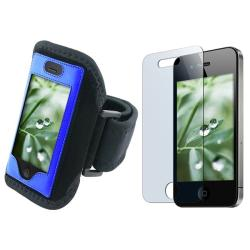 Deluxe Armband with Screen Protector for Apple iPhone 4