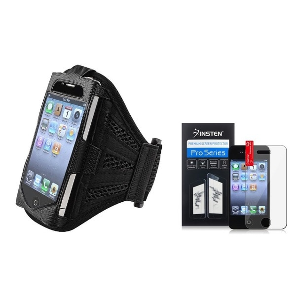 INSTEN Deluxe Armband/ Screen Protector for Apple iPhone 4