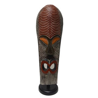 Wooden King Tutu Royal Standing Mask (Ghana)
