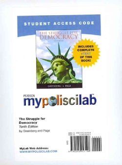 The Struggle for Democracy, Mypoliscilab Pass Code: Includes Complete eText (Other merchandise)