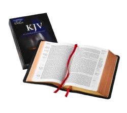 Holy Bible: King James Version, Black, Goatskin, Single Column Reference Bible (Hardcover)