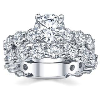 18k White Gold 6 1/8ct TDW Diamond Bridal Ring Set (G-H, SI1-SI2)
