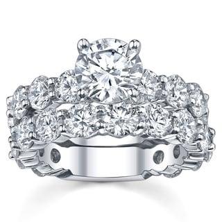 14k White Gold 6 5/8ct TDW Diamond Bridal Ring Set (G-H, SI1-SI2)