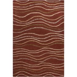 Hand-tufted Mandara Abstract Orange Rug (8' x 10')