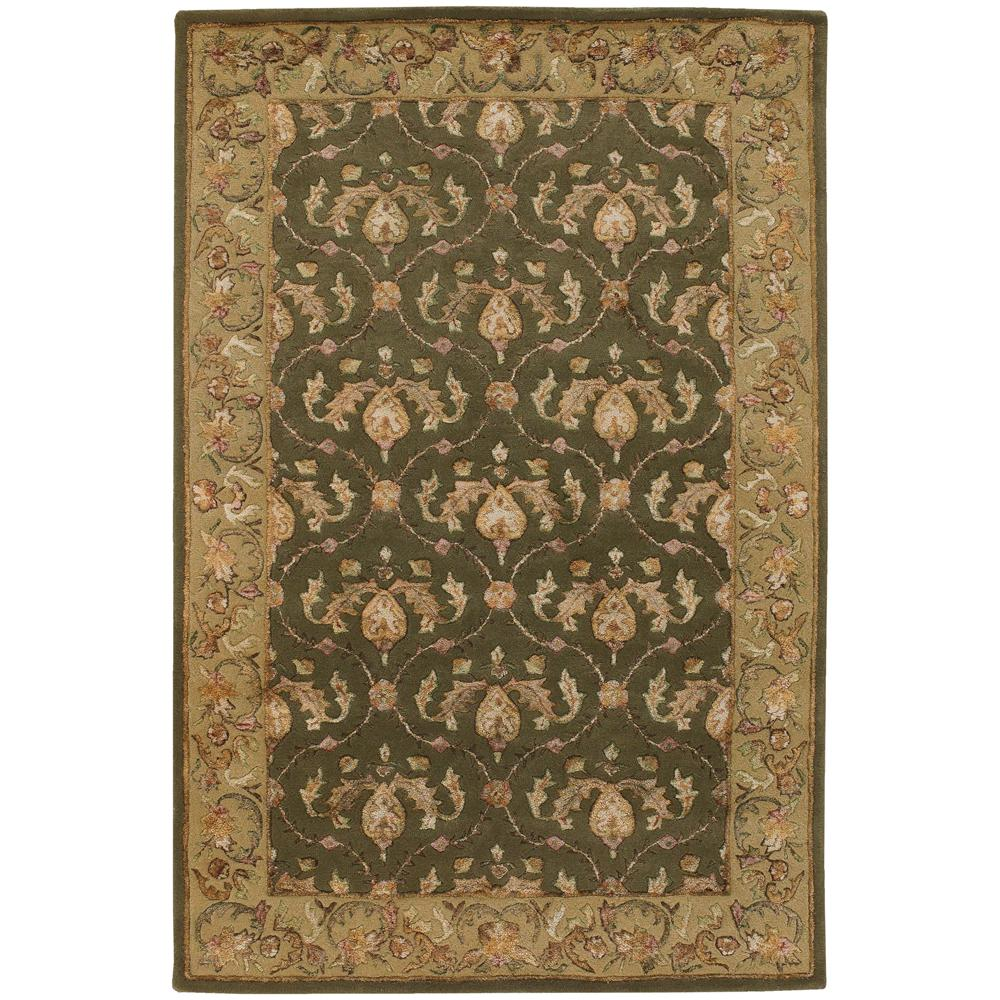 Hand-tufted Mandara Oriental Green Wool Rug (7'9 x 10'6)