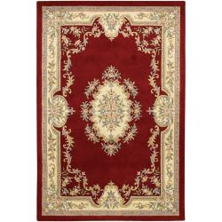 Hand-tufted Mandara Oriental Red Wool Rug (5' x 7'6)
