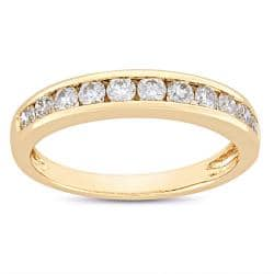 Miadora 14k Gold 1ct TDW IGL Certified Diamond Anniversary Ring (G-H, SI1)