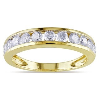 Miadora Certified 14k Gold 1ct TDW Diamond Anniversary Ring (G-H, SI1)