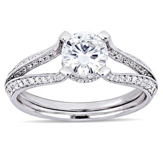 Miadora 18k White Gold 1 3/8ct TDW Certified Diamond Ring (G-H, SI2)