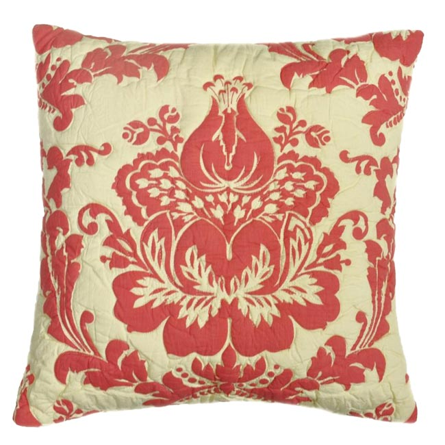 Damask Coral Pillow