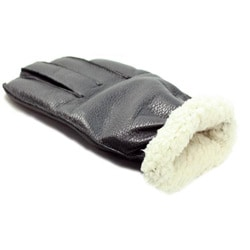 Isotoner Men's Fleece Lined Leather Gloves