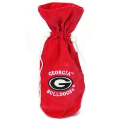 Georgia Bulldogs 14-inch Velvet Wine Bottle Bag