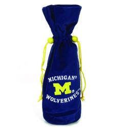 NCAA Michigan Wolverines 14-inch Velvet Wine Bottle Bag