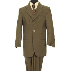 Ferrecci Boy's Green Three-button Two-piece Suit