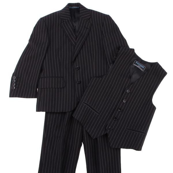 Ferrecci Boy's Black 3-piece Suit