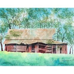 Ed Wade 'The Old Barn' 11x14-inch Art Print