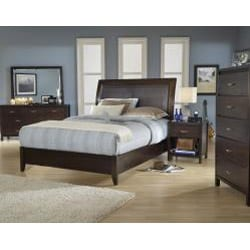 Cushioned Back Full-size 4 Drawer Wood Storage Bed