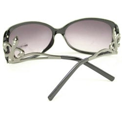 SWG Women's FDL5011 Black and Purple Cateye Sunglasses