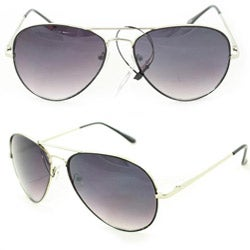 SWG Women's 385B Black and Purple Lens Aviator Sunglasses
