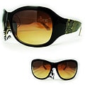SWG Women's 4392 Brown and Amber Butterfly Fashion Sunglasses