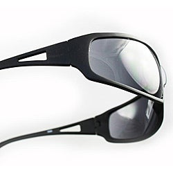 SWG Men's 3998 Black Wrap Sunglasses