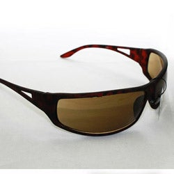 SWG Men's 3998 Brown Wrap Sunglasses