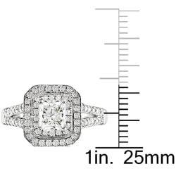 Miadora 18k White Gold 2ct TDW Certified Diamond  Ring (J-K, SI1)