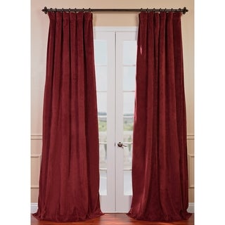 Signature Burgundy Velvet 120-inch Blackout Curtain Panel