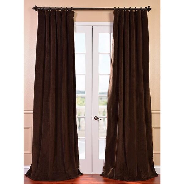 EFF Signature Java Velvet 120-inch Blackout Curtain Panel