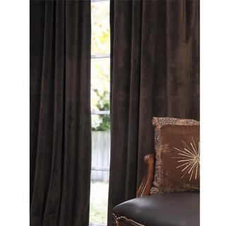Signature Java Velvet 120-inch Blackout Curtain Panel