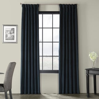Exclusive Fabrics Signature Midnight Blue Velvet Blackout Curtain Panel