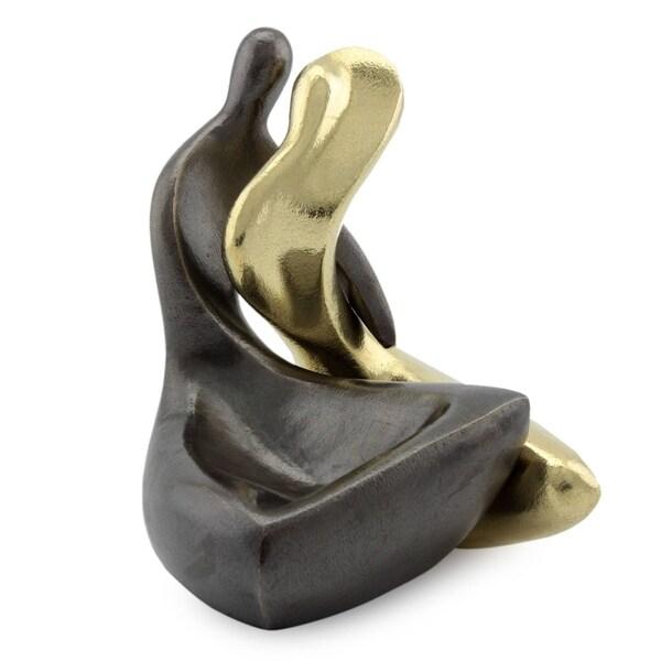 Handmade Set of 2 Bronze 'Couple' Sculptures (Brazil) 7777571