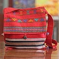Cotton 'Rajasthan Rapture' Medium Shoulder Bag (India)