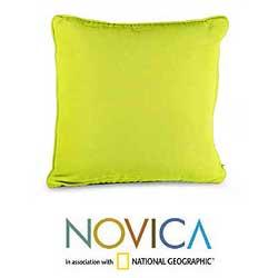 Cotton 'Lemon Weave' Cushion Cover (Guatemala)