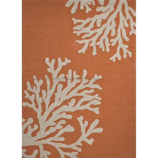 Hand-hooked Desean Orange Rug (2' x 3')