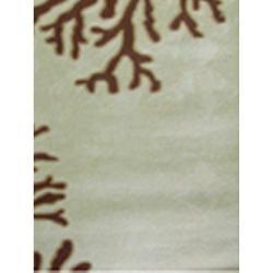 Deshun Hand-hooked Beige Rug (2' x 3')