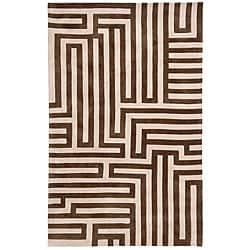 Hand-tufted Kamari Beige Abstract Rug (2' x 3')
