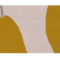 Hand-hooked Hiroki Beige Rug (2' x 3')