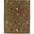 Hand-tufted Jareem Brown Wool Rug (2' x 3')