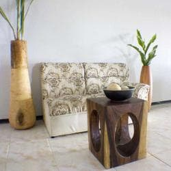 Monkey Pod Wood 20-inch Window End Table (Thailand)
