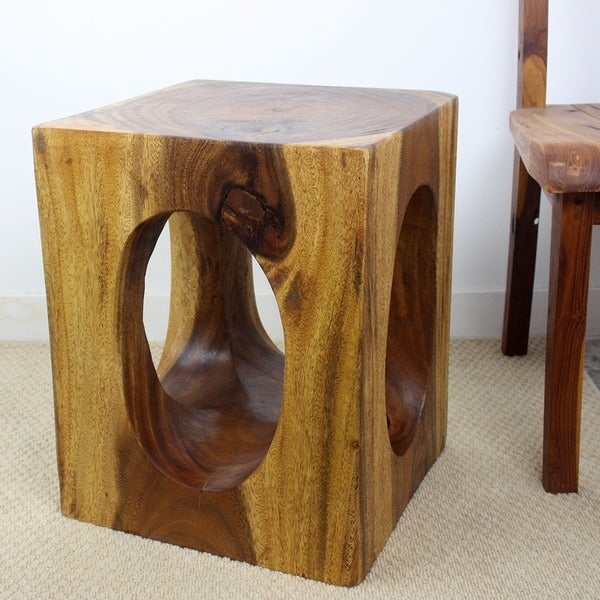 Monkey Pod Wood 20-inch Window End Table (Thailand)
